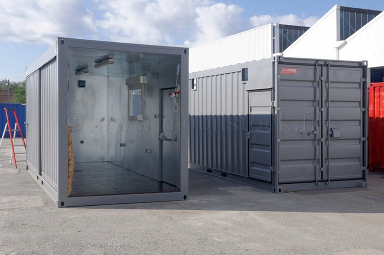 Conteneurs 20 39 high cube portes coulissantes isol for Container isole